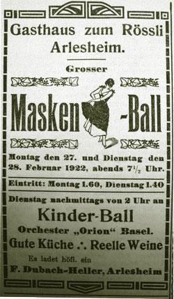Maskenball in Arlesheim